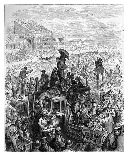 006-Almuerzo en el Derby-London A Pilgrimage 1890- Blanchard Jerrold y Gustave Doré- © Tufts Digital Library