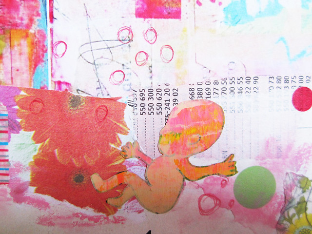 Art Journal detail: newborn