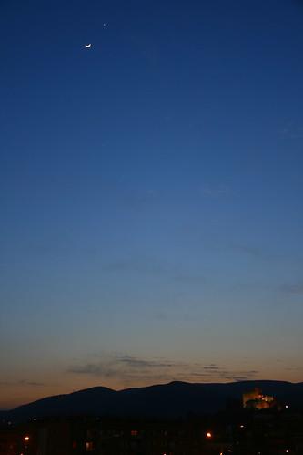 La Luna, Júpiter y Venus