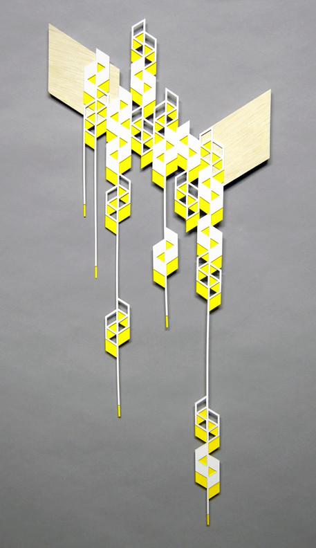 falling yellow parallelograms