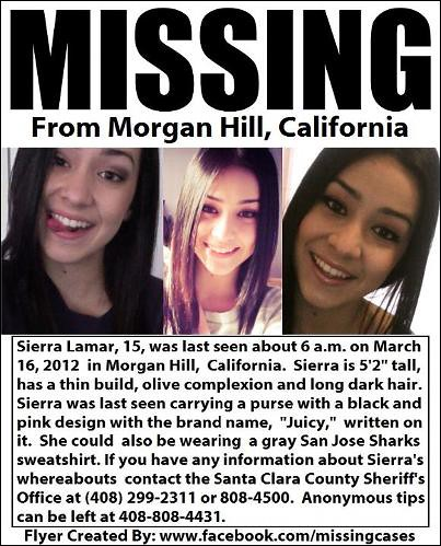 Sierra Lamar Missing Persons Poster