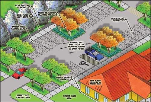 green parking concept  by  A  McGovern-Abbey Associates Landscape    Innovative Parking Lot Design