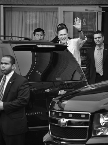 Mitt Romney Does the SUV Hustle