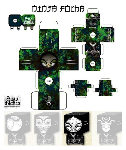 "Cube Ninja Molde ""Folhagem"""