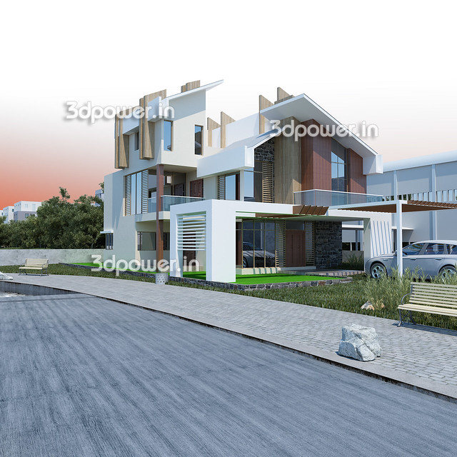 bungalow architectural rendering 2