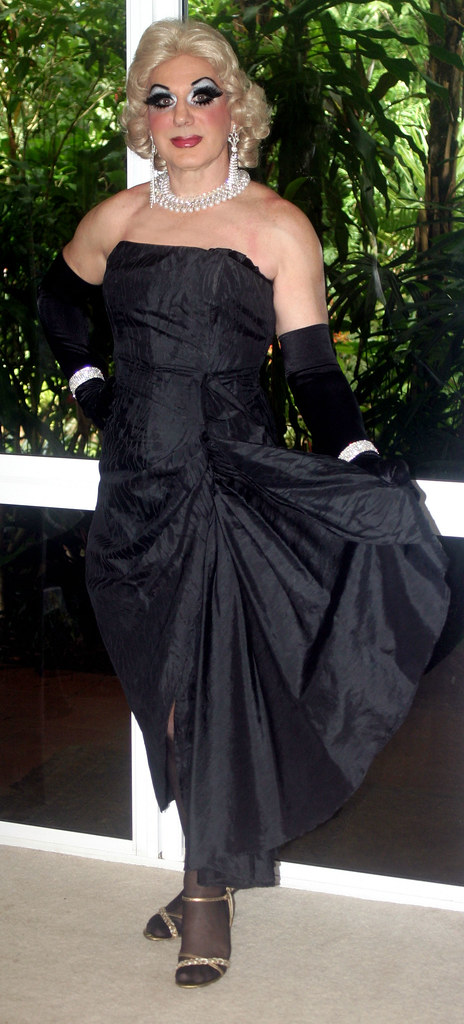 Remarkable, Transvestite evening dress