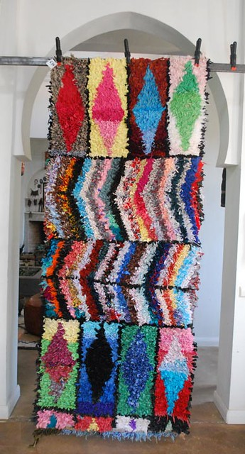 Moroccan Boucherouite Carpet No 634