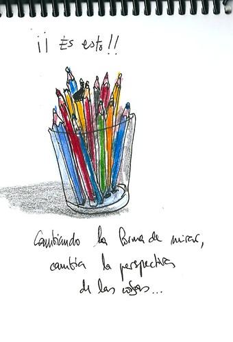 Vaso de lápices (Punto de vista frontal)