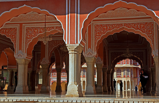 City Palace. Jaipur. Forest of columns.