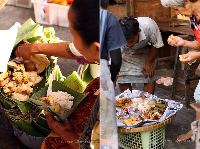 Nasi Campur Ayam (L), Kue Tradisional (R)