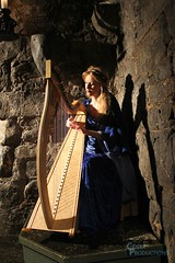 temple, harp, string instrument,
