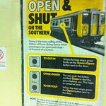 Old poster found at Richmond Station - Open & Shut - taken by English Heritage
