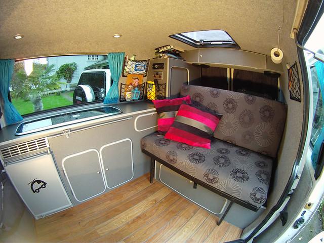 Vw T4 Camper Interior W Bed Up Flickr Photo Sharing