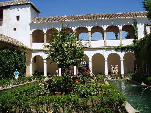 Foto Generalife Palace Alhambra Granada Andalusien