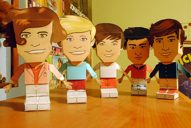 One Direction Papercraft