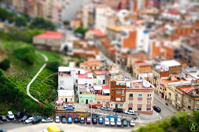 Can Baró - fake tilt shift