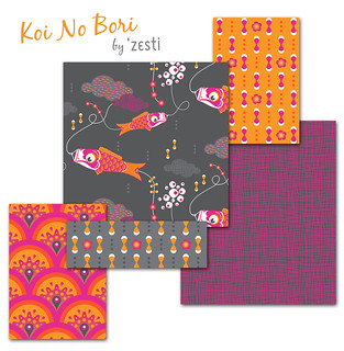 Koi No Bori Fabric Collection