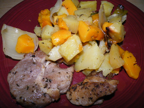 Pork with fall vegetables