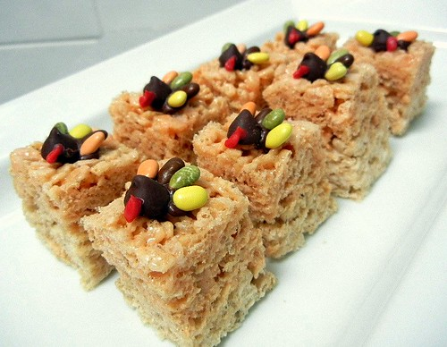 thanksgiving rice krispie treats