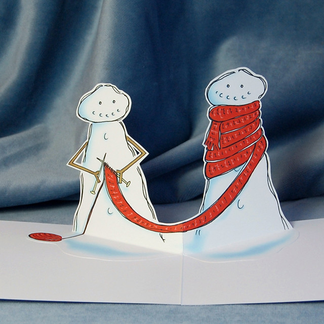 snow knit - pop up card (detail)