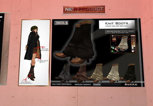[BUKKA]knit boots ::hud color select::, 380 lindens by Cherokeeh Asteria