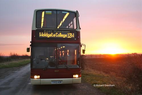 sunrise volvo eyes yorkshire president east depot motor hull services driffield plaxton transbus b7tl kirkburn tibthorpe yx53aon eybusman