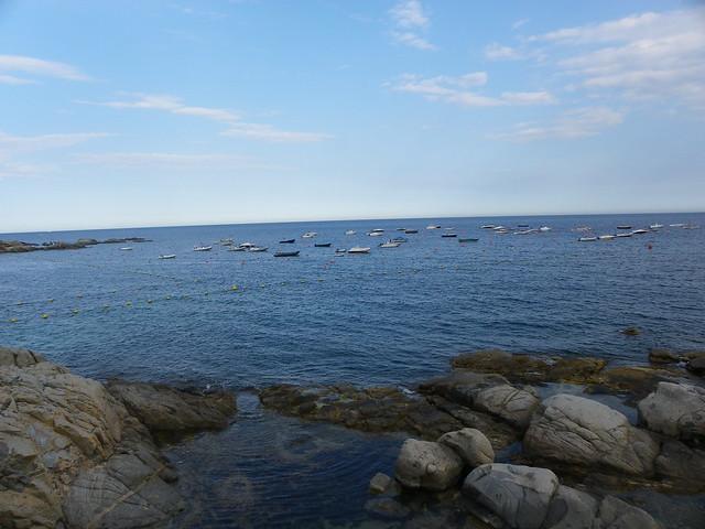Barcas en Calella