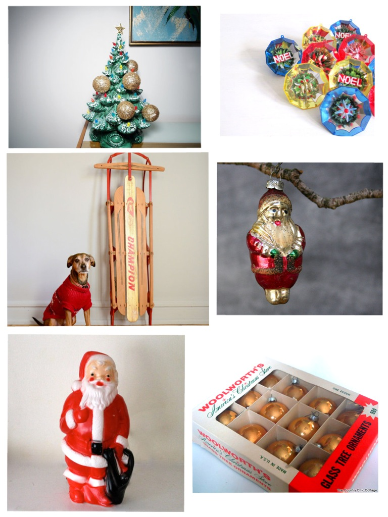 christmas wishlist • vintage christmas decorations.