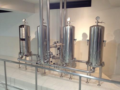 発酵させた麦芽を濾す機械とのこと。展示用ですね。@ザ・プレミアム・モルツ講座