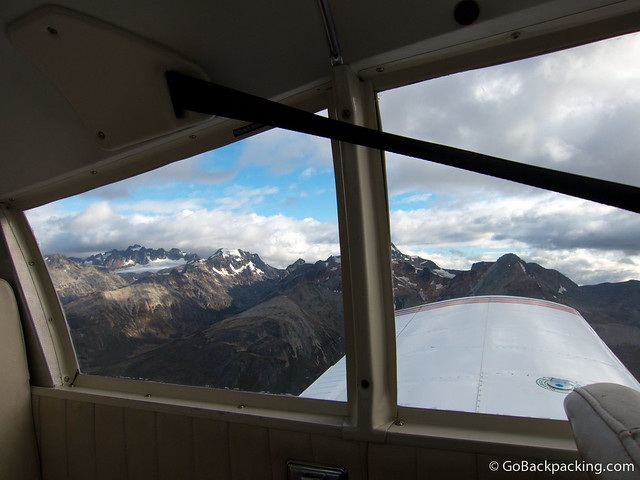 Flying amongst the mountaintops