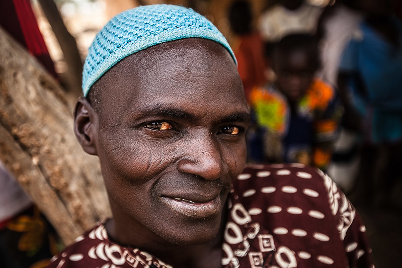portrait of a man of of ethnic mossi, south of Burkina Faso