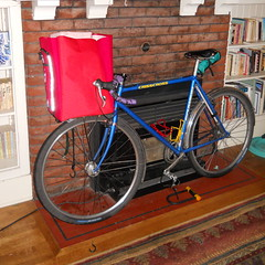 Giant red porteur bag