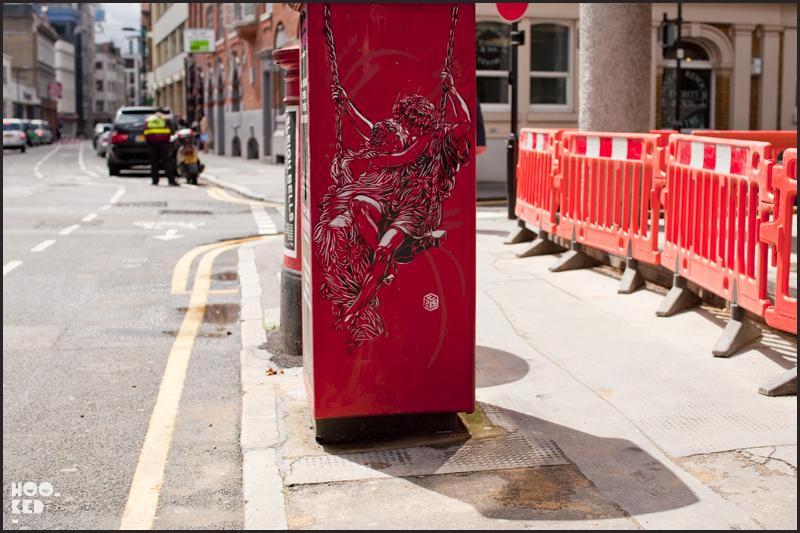 Shoreditch Street Art by French artist C215