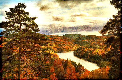 Northern river in autumn