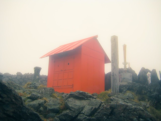 Shrine at the summit of Mt. Hayachine