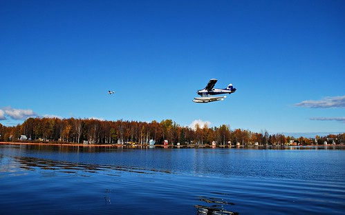 Alaska Anchorage Lake Hood Seaplane Base