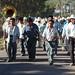 Procesión Guadalupana de hombres un poco tomaditos - male (and rather tipsy) procession for the Virgin of Guadalupe; Santa Cruz Tacache de Mina, Oaxaca, Mexico