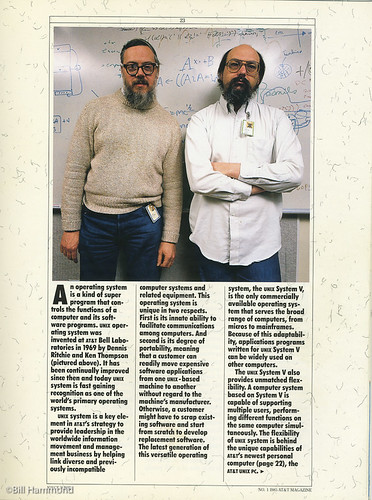 Dennis Ritchie on the left in this photograph died last week.