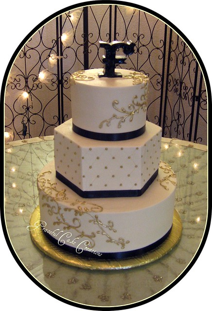 Gold Wedding Cake Platter