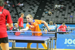 para table tennis(0.0), individual sports(1.0), table tennis(1.0), sports(1.0), competition event(1.0), ball game(1.0), racquet sport(1.0), tournament(1.0),