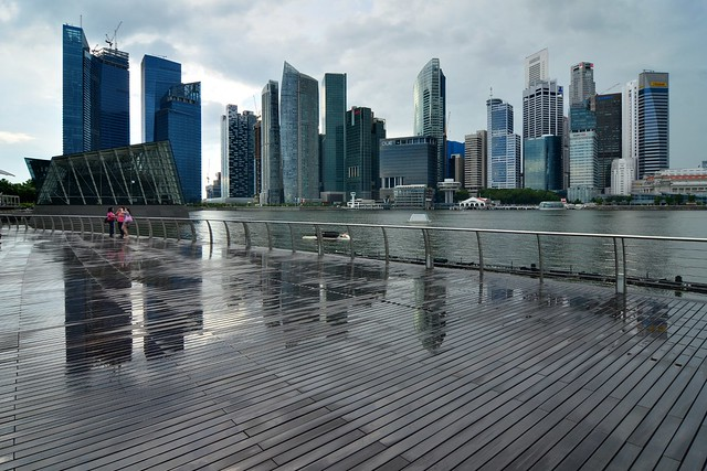 Singapore CBD skyline from Marina Bay Sands | Flickr - Photo Sharing!