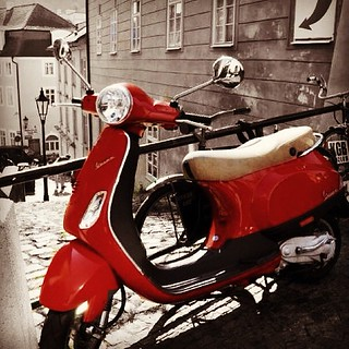 #motorcicles #motorbikes #red #lambretta #vespa #bikes #iphone #instagramhub #instamood #iphoneography #photooftheday #earlybird #blackandwhite