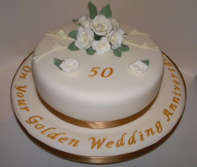 Wedding Anniversary Gifts 1-100 : Golden Wedding Anniversary Cake FlickrPhoto Sharing!