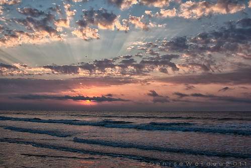 ocean pink blue red orange sun beach nature clouds sunrise canon landscape waves pastel rays oceanislebeach 450d imaginefotocom