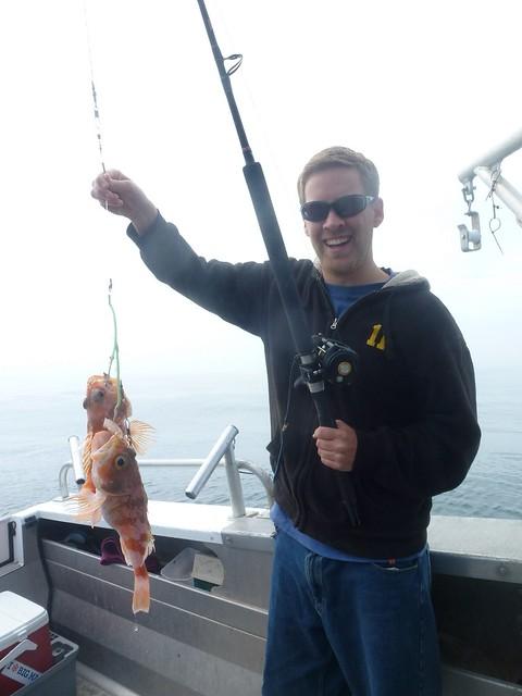 John looking proud of his catch