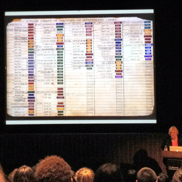 Really old MTA color system #talktome @AIGANY @AIGA