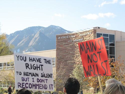 "Occupy Boulder: ""You have the right to remain silent but I don't recommend it"""