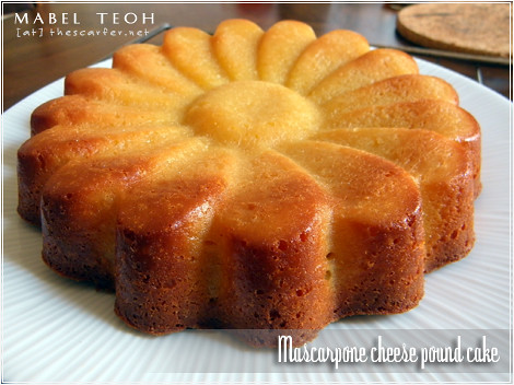 Pound Cake With Mascarpone Cheese