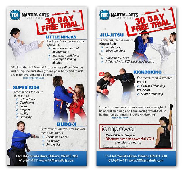 Martial Arts Flyer Design