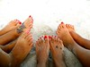 Pretty Toes in the Sand Girls at the